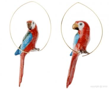 Nach, créoles perroquet rouge