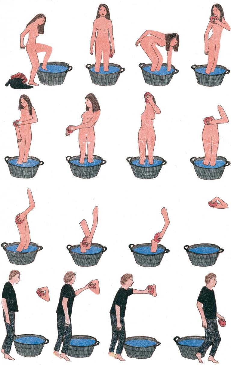 Marion Fayolle, la toilette
